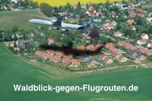 Waldblick gegen Flugrouten
