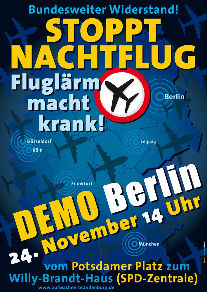 Stoppt Nachtflug - Demo Berlin